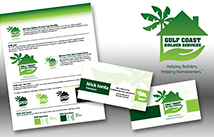 Identity Kit design for Gulf Coast Builders Services including logo design, business card design, style guide design
